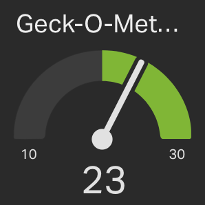 Geck-o-meter with goal